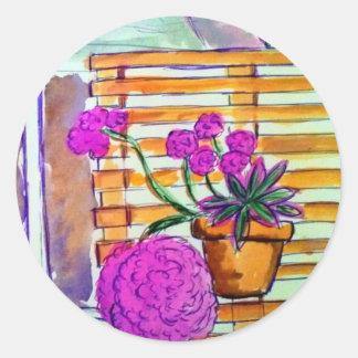 ランチョバーナードのインの紫色の植物 ラウンドシール