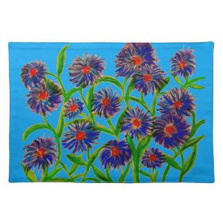 ランチョンマットの星状体の花の水彩画 ランチョンマット