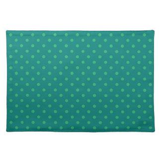 ランチョンマットの熱い緑の水玉模様 ランチョンマット