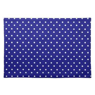 ランチョンマットの熱く青い水玉模様 ランチョンマット