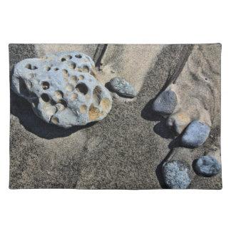 ランチョンマット-ビーチの石 ランチョンマット