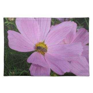 ランチョンマット: ピンクの花の蜂 ランチョンマット