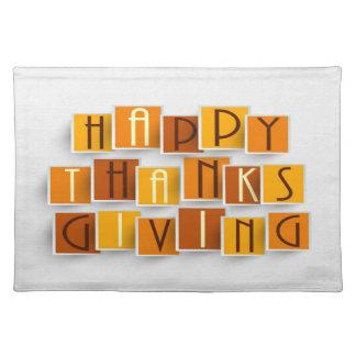 ランチョンマット-幸せな感謝祭のゴシック体 ランチョンマット