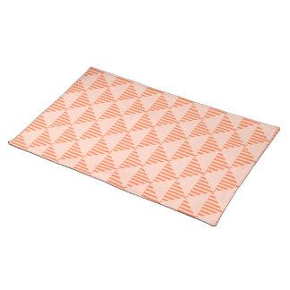 ランチョンマット、珊瑚の幾何学的な三角形のデザイン ランチョンマット