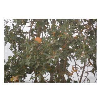 ランチョンマット: 谷のオークの木の秋 ランチョンマット