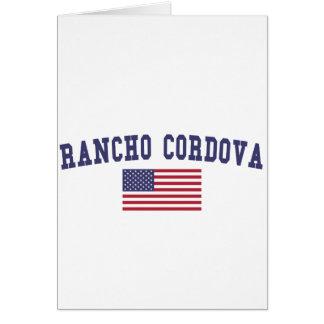 ランチョCordova米国の旗 カード