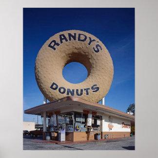 ランディのドーナツカリフォルニア世紀半ばのモダン ポスター