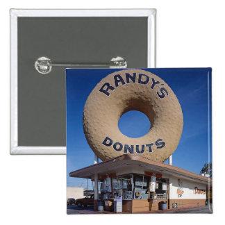 ランディのドーナツカリフォルニア建築 5.1CM 正方形バッジ