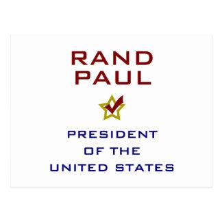 ランドのポールの大統領米国V2 ポストカード