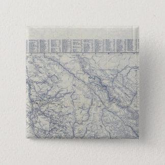 ランドのMcNallyの役人1925の自動道の地図2 5.1cm 正方形バッジ