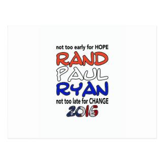 ランドポールライアン2016年の大統領選挙 ポストカード