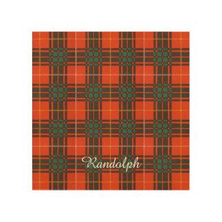 ランドルフの一族の格子縞のスコットランドのキルトのタータンチェック ウッドウォールアート