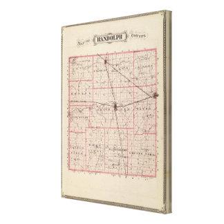 ランドルフ郡の地図 キャンバスプリント