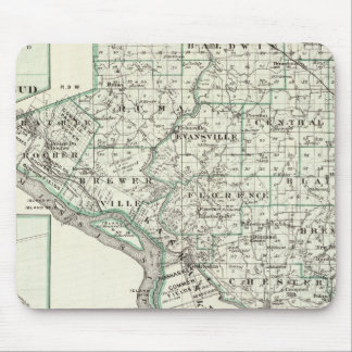 ランドルフ郡、赤い芽およびチェスターの地図 マウスパッド