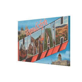 ランドルフ、ユタ-大きい手紙場面 キャンバスプリント