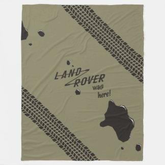 ランドローバーはここにありました! フリースブランケット