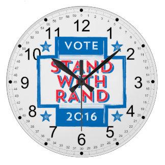 ランド2016年が付いている立場 ラージ壁時計