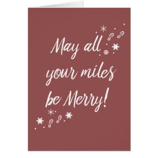ランナーのためのクリスマスカード! メリーなマイル3.0 カード