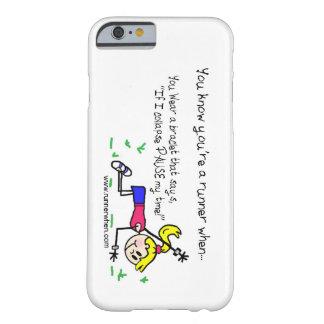 """ランナーの電話箱""""休止私の時間"""" BARELY THERE iPhone 6 ケース"""