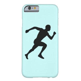 ランナーの黒いシルエットの影のiPhone 6/6s Barely There iPhone 6 ケース