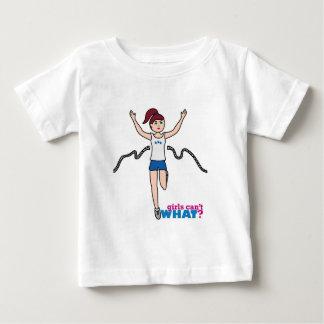 ランナー-ライトかブルネット ベビーTシャツ