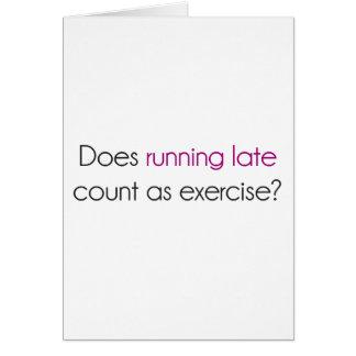 ランニングはエクササイズとして遅い数えますか。 カード