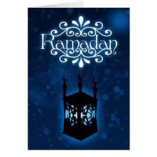 ランプが付いているラマダーンカード青 カード