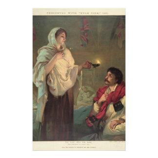 ランプ(フローレンス・ナイチンゲール)を持つ女性 便箋