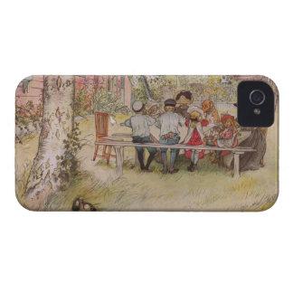 ラーション: 大きい樺の木の下の朝食 Case-Mate iPhone 4 ケース