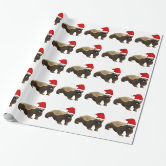 ラーテルのクリスマスの包装紙 ラッピングペーパー