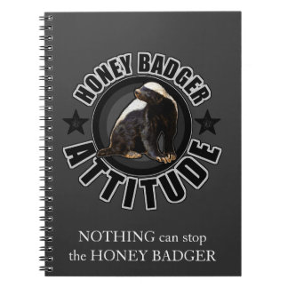 ラーテルの態度-円形のデザイン ノートブック