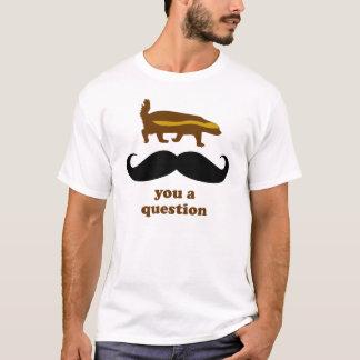 ラーテルの髭質問 Tシャツ