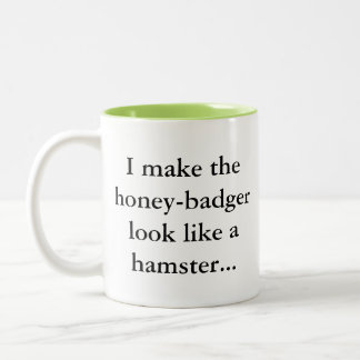 ラーテルはですハムスター… 粋なおもしろいのゲーマーのユーモア ツートーンマグカップ