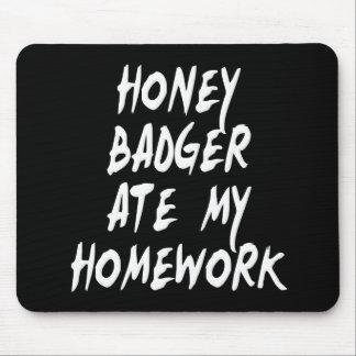 ラーテルは私の宿題を食べました マウスパッド