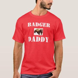 ラーテル(ミツアナグマ)のお父さん Tシャツ