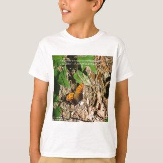 """ラーフWエマーソンの""""自然のペース""""の知恵の引用文のギフト Tシャツ"""
