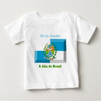 リオデジャネイロの旗の宝石 ベビーTシャツ