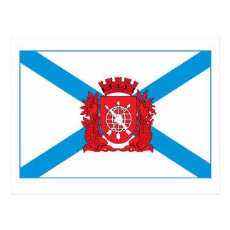 リオデジャネイロの旗の郵便はがき ポストカード
