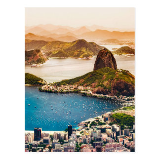 リオデジャネイロの都市景観の眺め ポストカード