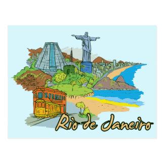 リオデジャネイロ、ブラジルの世界的に有名な都市 ポストカード