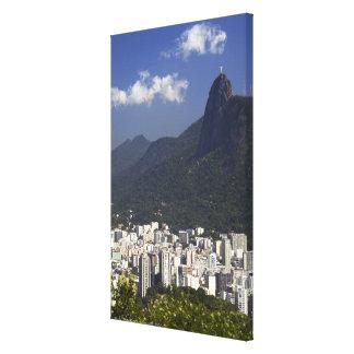 リオデジャネイロ、ブラジルを見落とすCorcovado キャンバスプリント