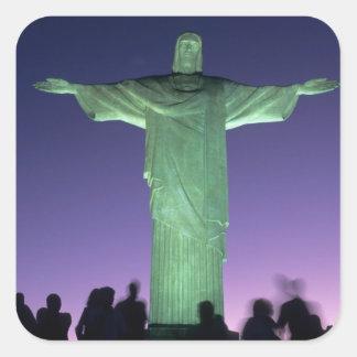 リオデジャネイロ、ブラジル。 キリストの彫像 スクエアシール