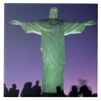 リオデジャネイロ、ブラジル。 キリストの彫像 タイル