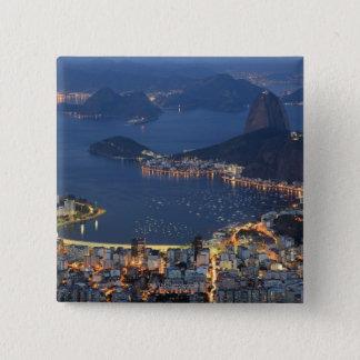 リオデジャネイロ、ブラジル 5.1CM 正方形バッジ