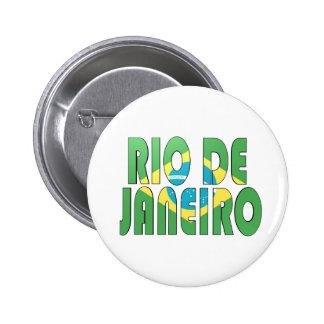 リオデジャネイロ、ブラジル 5.7CM 丸型バッジ