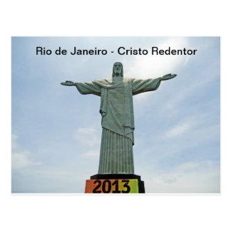 リオデジャネイロ- Cristo Redentor ポストカード