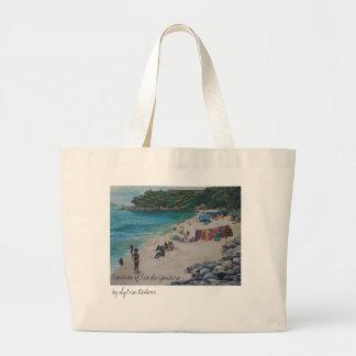 リオビーチ、リオde JaneirobyシルビアLの海岸… ラージトートバッグ