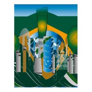 リオ抽象的なスカイライン ポストカード