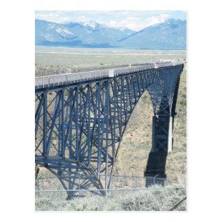 リオ・グランデ川の峡谷橋 ポストカード