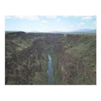 リオ・グランデ川の峡谷2の郵便はがき ポストカード